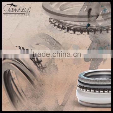 Chameleon Freestyle Ceramic Bubble Ice Antique Surface Stacking Ring Combination Sets, One Set 5 rings