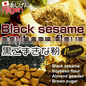 Best-selling and Natural soybean meal Black sesame Soybean flour with  Flavorful made in Japan