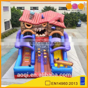 AOQI big discount inflatable slides inflatable angry cabin slides with free EN14960