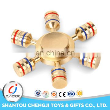 Hot sale colorful metal hand spinner fidget toys for adults