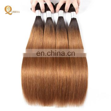 Mink Brazilian Hair Colored Human Hair Weave Bundles Two Tone Remy Hair Extension