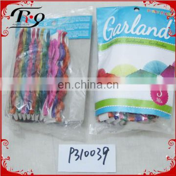 party decoration colorful fan paper garlands