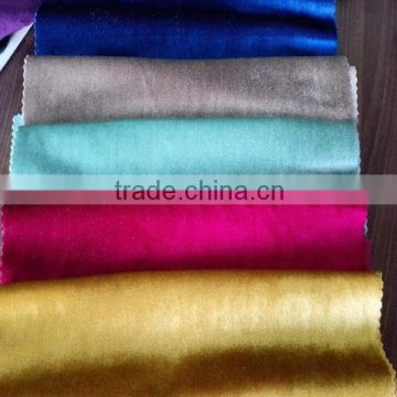 Wholesale Shiny Warp Knitting Italian Velvet Sofa Fabric For Home Textile Decoration