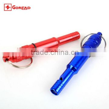 Goread K027 Big Aluminum alloy Survival whistle with key chain Sealed position