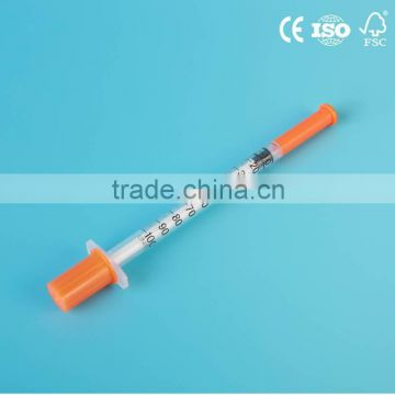 Disposable Medical Insulin Syringe