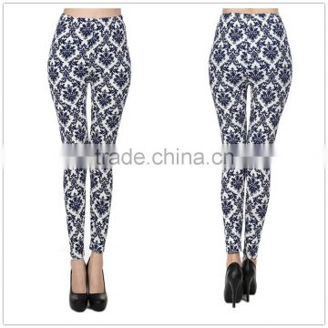 fashion and sexy water ripple printed pants cotton womens printed leggings blue green black