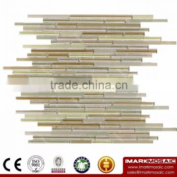 IMARK Lavender Linear Glass Mosaic Mixed Color Glazed Glass Mosaic With Strip Clear Glass Tile