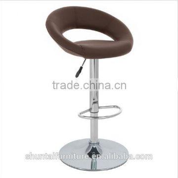 Astonishing Modern Leather Round Back Swivel Barstool Club Chair Of Pu Uwap Interior Chair Design Uwaporg