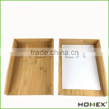 Bamboo office paper tray /file tray/ office tray Homex-BSCI