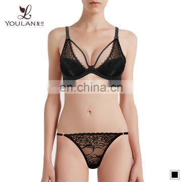 Stylish Fancy OEM Your Design Underwired Sexy Bra Panty Set