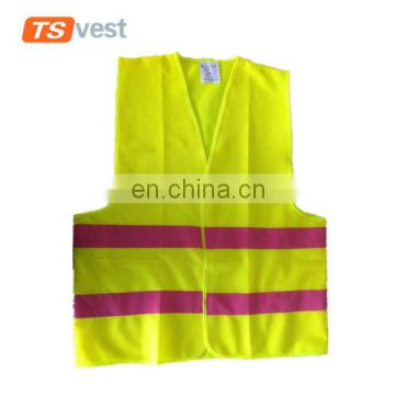 Anti-pilling breathable pink reflective strips safety vest