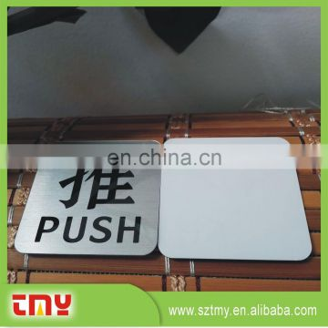 NEW! Customized cheapest warteroof brushed open sign for push pull