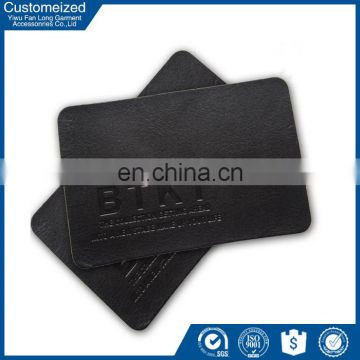 Fashion Fancy factory custom Custom jeans pu leather labels