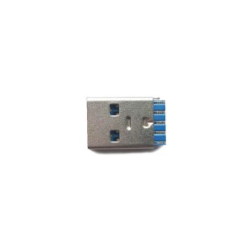9 Pins Blue 3.0 USB Male Connectors with SPCC or Copper Terminals for Cable Assembly