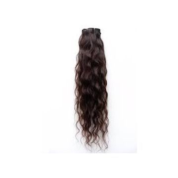 16 Inches Curly Human Hair Cambodian Wigs Brown Chemical free Full Head