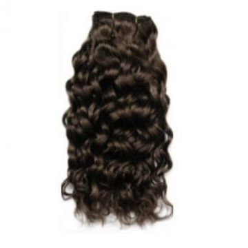 Afro Curl 12 -20 Inch Chocolate Brown Front Lace Human Hair Wigs Silky Straight