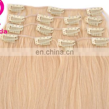 High quality Full Head Clip in Remy Human Hair Extensions china supplier