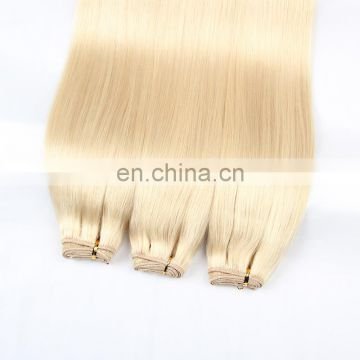 White women Favorite grade 8a human hair extension Smooth soft brazilian blonde remy hair color 613