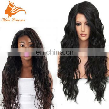 100 Percent Unprocessed Human Hair Full Lace Wig With Baby Hair Brazilian Virgin Hair Glueless Loose Curly Wave Wig