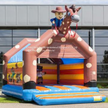 Cowboy 6.6 x 5.0 x 5.7 m inflatable bouncy castle with cheap price inflatable trampoline for kids funny bounce house 2018