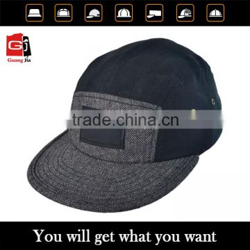 New design plain black 5 panel snapback cap man hat of 5 panels snapback cap  from China Suppliers - 121407497 c059556db677