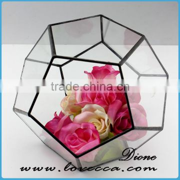 Factory Wholesale Round Clear Geometric Square Glass Globe Hanging