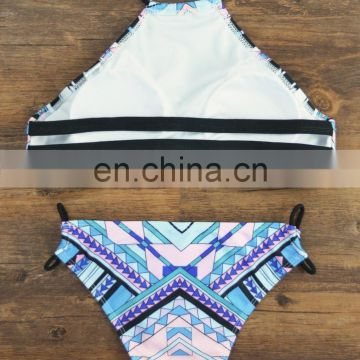 Mature women printting design bikini 2017