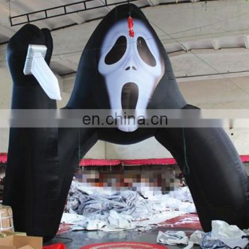 factory price halloween inflatable ghost arch for party decoration