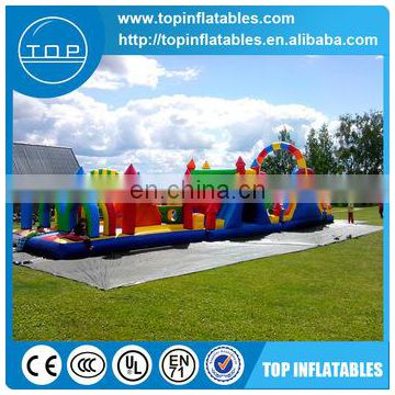 Ploto PVC outdoor playground inflatable sports 5k obstacle course with great price