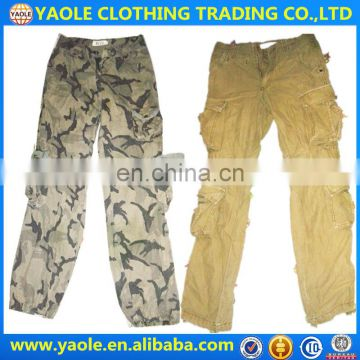 Cargo long pants used clothes hongkong clothes second hand