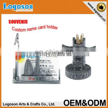 OEM 100% high quality guarantee engraving zinc alloy name card holder souvenir