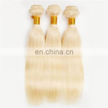 Blonde color peruvian hair bundles