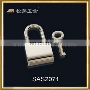 Song A SAs2071 light gold color customized engraved letters handbags lock, customized lock with key