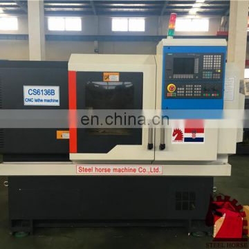 Ck6136 CK6140 CK6150 CK6163 SMALL PLC semi automatic lathe cnc lathe machine price precision