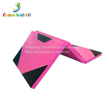 Mixed cheap gymnastic folding  Yoga mat for fitness body building