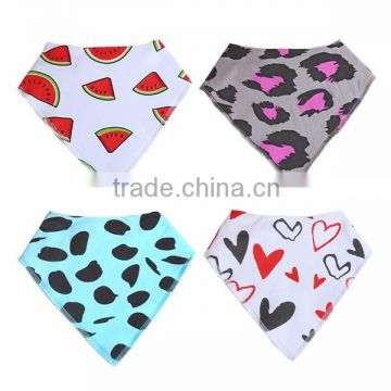 WZ-MS-1915 Stylish 4 Pack of 100% Absorbent Cotton Bandana Drool Bibs Modern Baby Gift Set