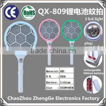 QX808USB-5 USB charge line rechargeable electric mosquito bat swatter killer racket more convenience