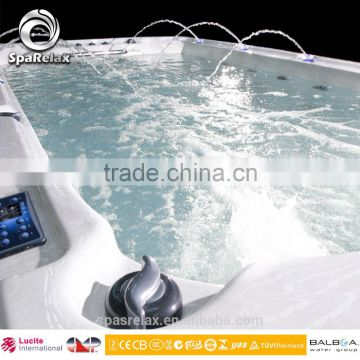 Factory Fiberglass Rectangle above ground swimming pool/pool spas/pool with massage