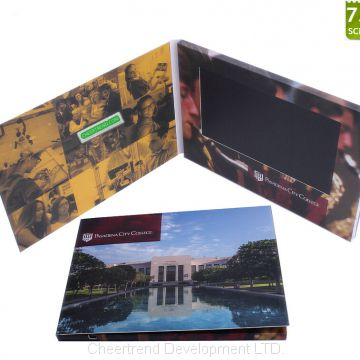 2017 newest product invitation lcd video player brochure card