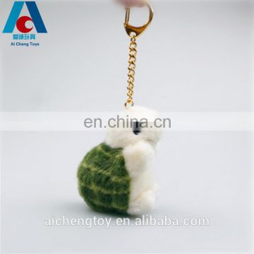 custom wholesale small tortoise plush keychain