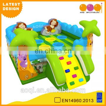 2015 AOQI newest design monkey mole inflatable bouncer with slide with free EN14960 certificate