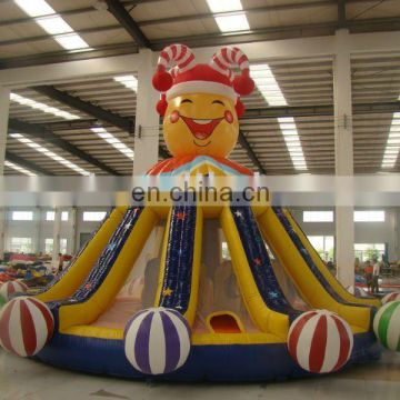AOQI products great attraction colourfull clown inflatable bouncer AQ991for kids bouncing