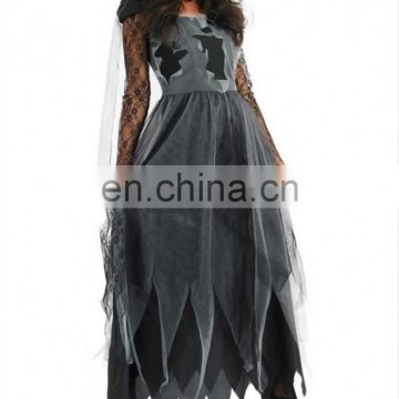 Hot Graceful Lace Carnival Ghost Bride Dress Costume Halloween Suppliers China