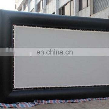 waterproof inflatable movie screen / inflatable projection screen outdoor / movie screen black
