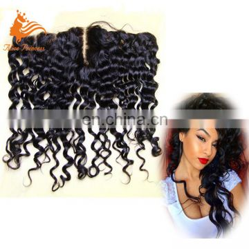 8A Grade China Manufacturer Made Human Hair Lace Frontal With Middle Part Lace Closure