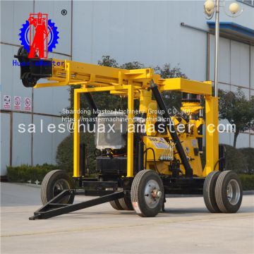 XYX-3 Wheeled Hydraulic Rotary Diamond Core Machine Drilling Rig For Sale