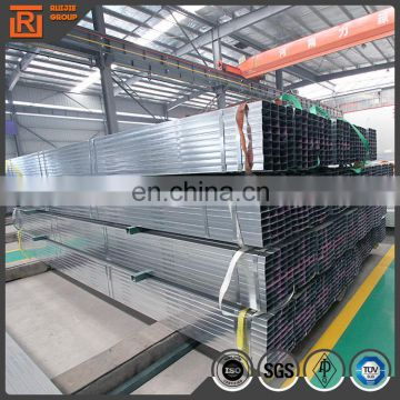 Pre Galvanized square tube hollow section gi tube 20x40mm