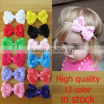 Hotsale hair bow with elastic band,pre-tied bows with elastic band(AM-KH-10)