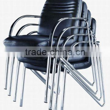 stacking leather chair