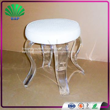 Incredible Wholesale Acrylic Cushion Round Stool Lucite Art Room Stool Forskolin Free Trial Chair Design Images Forskolin Free Trialorg